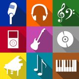 música de los iconos Fotos de archivo
