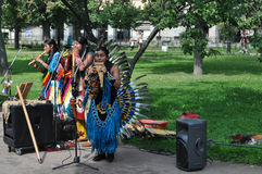 Música de los indios Imagenes de archivo