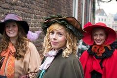 Música de natal do Natal dos caráteres do festival de Dickens fotografia de stock