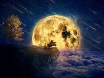 Música de ninar da meia-noite foto de stock royalty free