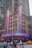 Música de rádio Hall New York City da cidade Fotos de Stock Royalty Free