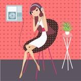 Música de relaxamento ilustração do vetor