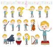 Música de White_classic do menino de escola ilustração royalty free