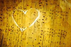 Música del amor Foto de archivo libre de regalías