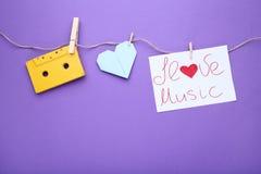 Música del amor de la inscripción I foto de archivo libre de regalías
