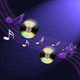 música del Cd del Internet Imagen de archivo