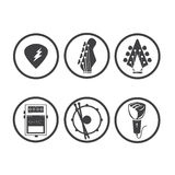 Música 01 del icono Fotos de archivo libres de regalías