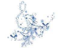Música del invierno ilustración del vector