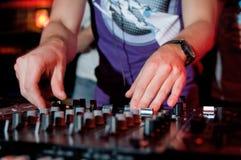 Música del panel de DJ Foto de archivo libre de regalías