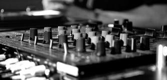 Música del panel de DJ Imagen de archivo