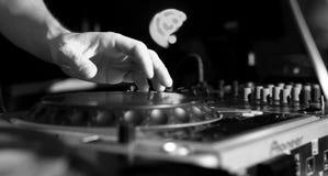 Música del panel de DJ Fotografía de archivo