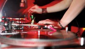 Música del panel de DJ Foto de archivo