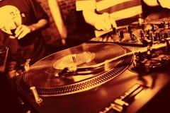 Música del panel de DJ Imagen de archivo libre de regalías