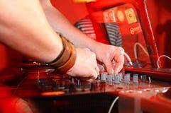 Música del panel de DJ Imagenes de archivo