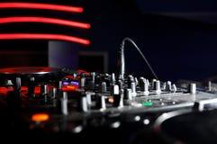 Música del panel de DJ Fotos de archivo libres de regalías