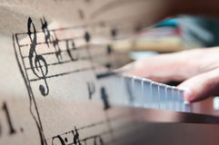 Música del piano Fotos de archivo libres de regalías