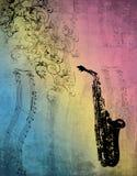 Música del saxofón Foto de archivo
