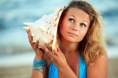 Música del Seashell Fotos de archivo