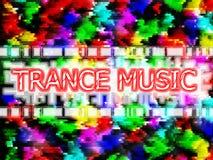 Música del trance Stock de ilustración