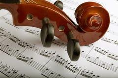 Música del violín y de hoja Fotografía de archivo libre de regalías