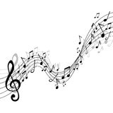 Música, diseño del extracto ilustración del vector