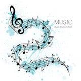 Música, diseño del extracto libre illustration