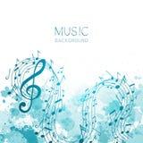 Música, diseño del extracto stock de ilustración