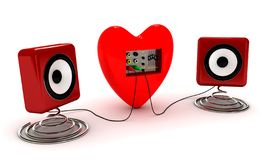 Música do amor - imagem conceptual ilustração stock