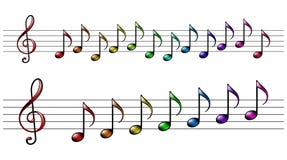 Música do arco-íris Fotografia de Stock Royalty Free