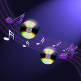 música do Cd do Internet Imagem de Stock
