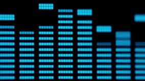 Música do close-up e equalizadores audio video estoque