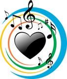 Música do coração Imagens de Stock Royalty Free