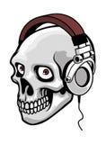 Música do crânio Fotografia de Stock Royalty Free
