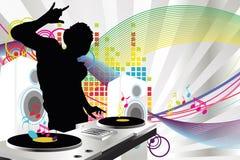 Música do DJ ilustração royalty free