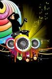 Música do DJ ilustração stock