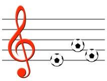 Música do futebol ilustração royalty free