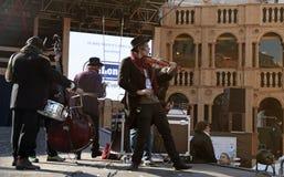 Música do jogo da faixa do músico na fase do teatro grande, Veneza C Foto de Stock