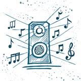 Música do jogo dos oradores da música Fotografia de Stock