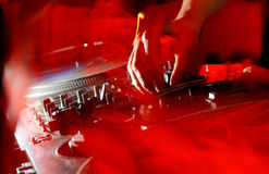 Música do painel do DJ Fotografia de Stock