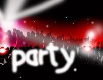 Música do partido de dança Imagens de Stock