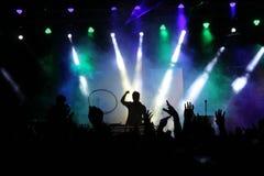 Música do partido e luzes de Bokeh Fotografia de Stock