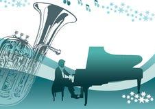 Música do piano Ilustração do Vetor