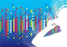 Música do vetor da cor ilustração stock