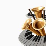 Música dois ilustração royalty free