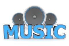 Música dos altofalantes - azul ilustração do vetor
