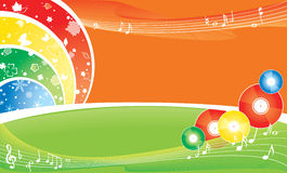 Música durante todo el año Ilustración del Vector