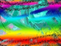 Música e cores Imagens de Stock