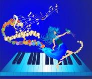 Música e dança Fotografia de Stock