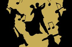 Música e dança ilustração stock