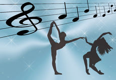 Música e dança Ilustração Royalty Free